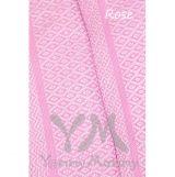 Слинг с кольцами из шарфовой ткани Rose (розовый, белый)