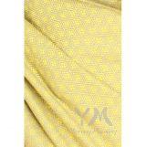 Слинг с кольцами из шарфовой ткани Yellow Diamond (желтый, серый)