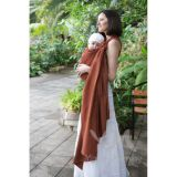 Слинг-шарф из шарфовой ткани Jasper (терракот, коричневый)