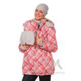 Универсальная куртка 3 в 1  белая/красная клетка ДЕМИСЕЗОННАЯ