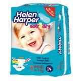 Helen Harper Детские подгузники Soft&Dry Midi (4-9кг) 14шт