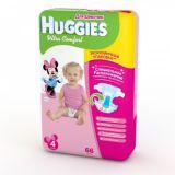 Хаггис подгузники Ультра Комфорт для девочек 4 (8-14кг) 66 шт