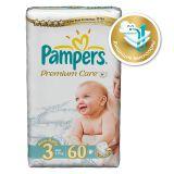 Подгузники Pampers Premium Care 4-9 кг (3 размер, midi), 60 шт. (экономичная упаковка)