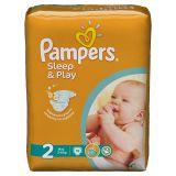 Подгузники Pampers Sleep & Play 3-6 кг (2 размер, mini), 18 шт. (стандартная упаковка)