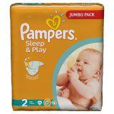 Подгузники Pampers Sleep & Play 3-6 кг (2 размер, mini), 88 шт. (джамбо упаковка)