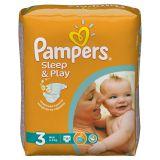 Подгузники Pampers Sleep & Play 4-9 кг (3 размер, midi), 16 шт. (стандартная упаковка)