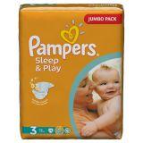 Подгузники Pampers Sleep & Play 4-9 кг (3 размер, midi), 78 шт. (джамбо упаковка)