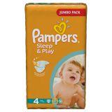 Подгузники Pampers Sleep & Play 7-14 кг (4 размер, maxi), 68 шт. (джамбо упаковка)