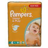 Подгузники Pampers Sleep & Play 7-14 кг (4 размер, maxi), 86 шт. (джайант упаковка)