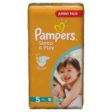 Подгузники Pampers Sleep & Play 11-18 кг (5 размер, junior), 58 шт. (джамбо упаковка)