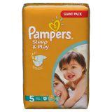 Подгузники Pampers Sleep & Play 11-18 кг (5 размер, junior), 74 шт. (джайант упаковка)