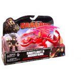 Игровой набор Dragons 66594 Дрэгонс Набор дракон и всадник (красный)