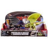 Игровой набор Dragons 66599 Дрэгонс Беззубик и Иккинг против дракона