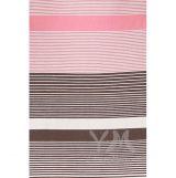 Платье с пояском розовая/коричневая/бежевая полоска