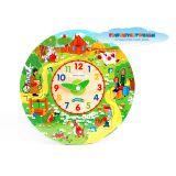 Часы-логика GT5312 Простоквашино,28 см,дерево ТМ СОЮЗМУЛЬТФИЛЬМ