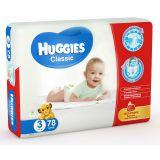 Подгузники Huggies Classic Mega Pack 3, 4-9 кг, 78шт.