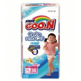 Японские подгузники-трусики Goon для девочек XL 12-20кг, 38шт. NEW!