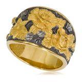 Кольцо «Жостово»(золотые розы)