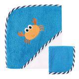 Комплект Полотенце с капюшоном и салфетка для купания, 2 пр., (махра)