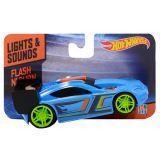 Hot Wheels HW91601 Машинка Хот вилс на батарейках свет+звук, голубая 13 см