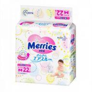 Merries Подгузники M (6-11 кг), 22шт