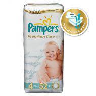 Подгузники Pampers Premium Care 7-14 кг (4 размер, maxi), 52 шт. (экономичная упаковка)