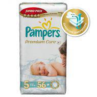 Подгузники Pampers Premium Care 11-25 кг (5 размер, junior), 56 шт. (джамбо упаковка)