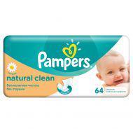 Детские влажные салфетки Pampers  Natural Clean,  64 шт.