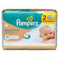 Детские влажные салфетки Pampers  Natural Clean,  128 шт.