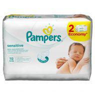 Детские влажные салфетки Pampers  Sensitive,  112 шт.
