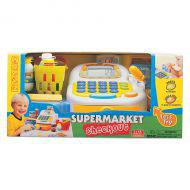 Набор-супермаркет: кассовый аппарат,микрофон ,продукты - свет , звук