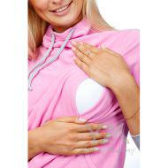 Толстовка флисовая с завязками розовая