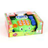 Каталка 7068 Телефон на колесах, со светом и звуком, на батарейках, в коробке 29*24*12см JOY TOY