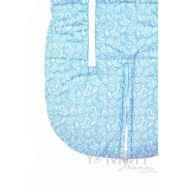 Конверт-трансформер голубой/молочный флис (рост до 80 см)