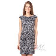 Платье для дома и сна без рукава серый/черный