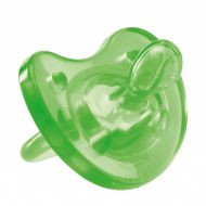 Пустышка силиконовая Chicco Physio Soft ортодонтическая, зеленая, 4+