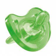 Пустышка силиконовая Chicco Physio Soft ортодонтическая, зеленая, 12+
