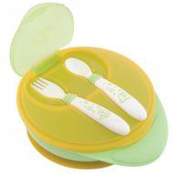 Набор детской посуды Мир Детства: нескользящая тарелка и приборы