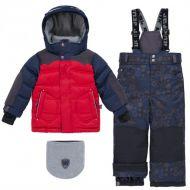 Зимний костюм для мальчика (очки на капюшоне)