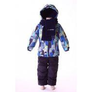 Костюм для мальчика (куртка, полукомбинезон, шарф)