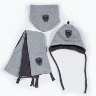 Зимний комбинезон для мальчика (очки на капюшоне)