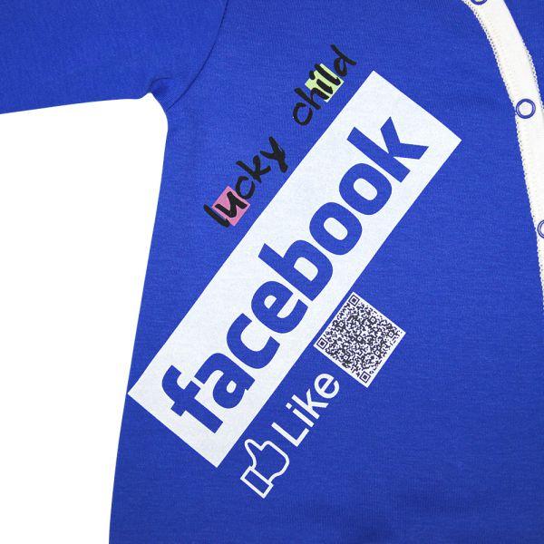 Комбинезон 'Соц. сеть', ''Facebook'' 9-161 Lucky child