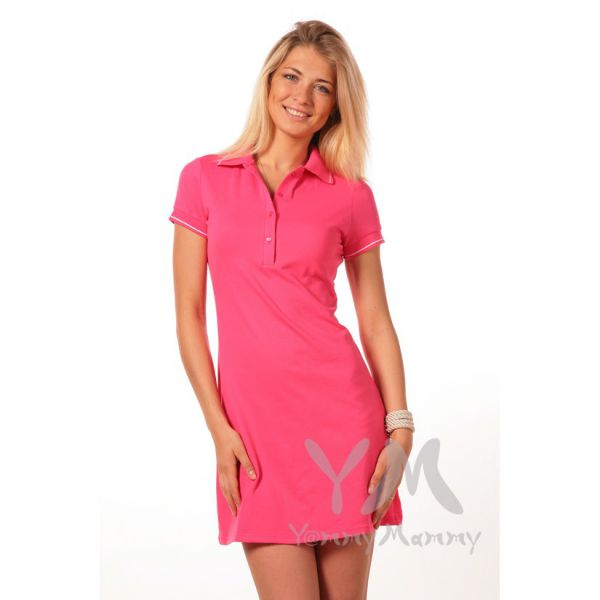 Платье поло фуксия 317.1.2 Y@mmyMammy