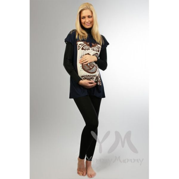 Лосины для беременных из модала чёрные 406.2.1 Y@mmyMammy