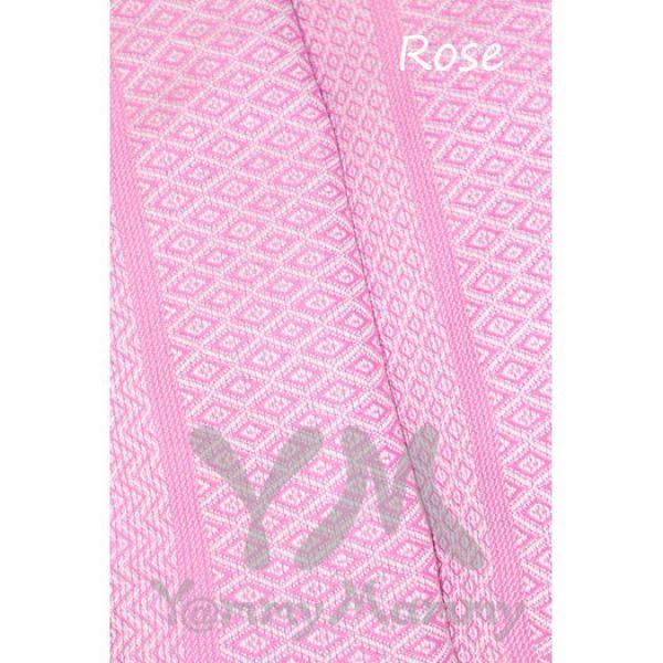Слинг с кольцами из шарфовой ткани Rose (розовый, белый) 550.1.11 Y@mmyMammy
