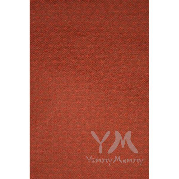 Слинг с кольцами из шарфовой ткани Jasper (терракотовый, коричневый) 550.1.25 Y@mmyMammy