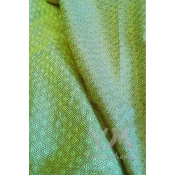 Слинг с кольцами из шарфовой ткани Emerald (салатовый, коричневый) 550.1.27 Y@mmyMammy