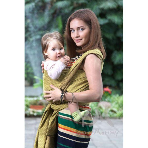 Слинг-шарф из шарфовой ткани Golden Beryl (лимонный, коричневый) 551.1.18 Y@mmyMammy
