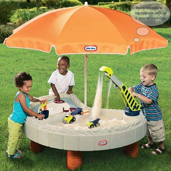 Стол-песочница с зонтом и зоной для воды 401N LITTLE TIKES