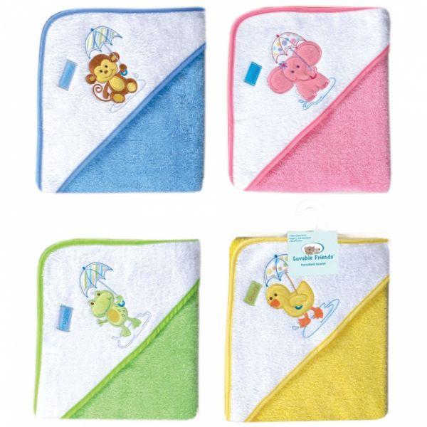 Полотенце с капюшоном 'Звери под зонтиком' 05166/4 Luvable Friends